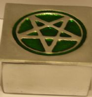 Trinket Box-Green Pentagram